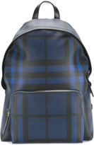 Burberry checked backpack - men - Leather/Polyester/PVC - One Size