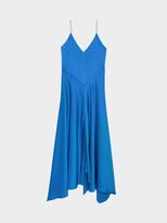 DKNY V-Neck Pieced Dress With Front Slip
