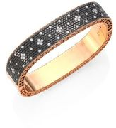 Roberto Coin Princess Diamond & 18K Rose Gold Bangle