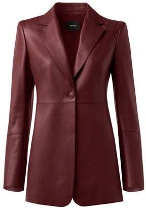 Akris Leni Leather Single-Button Jacket