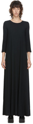 Raquel Allegra Black Drama Long Dress