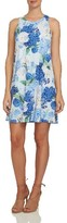 CeCe Women's Hydrangea Print Twist Back Knit Dress