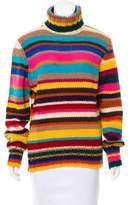Dolce & Gabbana Turtleneck Striped Sweater