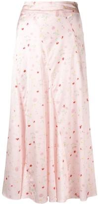 Ganni Floral Skirt