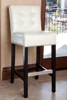 Ivory Masimo Leather Barstool