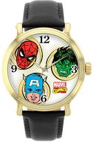 Spiderman Marvel Spider-Man, The Incredible Hulk & Captain America Leather Watch