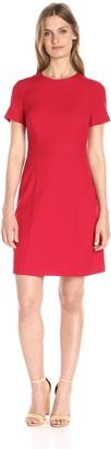 Lark & Ro Amazon Brand Women's Short Sleeve Stretch A-Line Dress