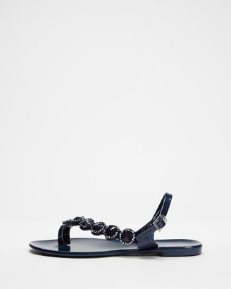 Holster Women's Navy Flat Sandals - Caribbean - Size One Size, 11 at The Iconic