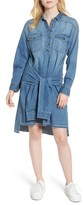 Current/Elliott Women's The Twist High/low Denim Shirtdress