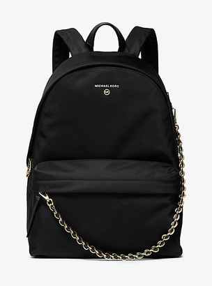 MICHAEL Michael Kors MK Slater Large Nylon Gabardine Backpack - Black - Michael Kors