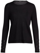Akris Studded Cashmere & Silk Knit Sweater