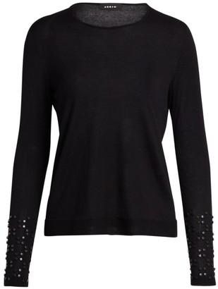 Akris Studded Cashmere & Silk Knit Sweater