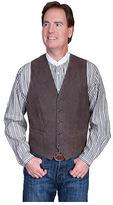Scully Men's Lambskin Button Front Vest 503-63 Long
