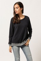 Sol Angeles Boucle Drape Back L/S Sweater
