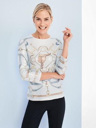 Corali Sequin Sweater in Horsebit