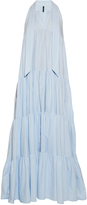 Lisa Marie Fernandez Tiered cotton-chambray dress