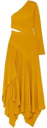 Givenchy One-shoulder Asymmetric Cutout Crepe Gown