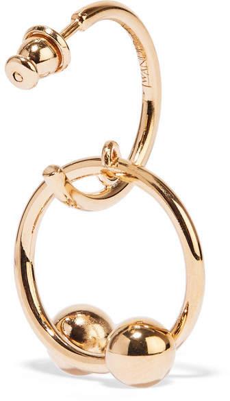 J.W.Anderson Pierce Gold-plated Hoop Earrings