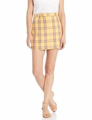 BB Dakota Women's Best I Ever Plaid Yarn Dyed Skirt