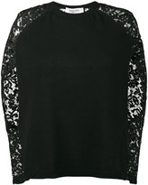 Valentino lace long sleeve jumper - women - Cotton/Polyamide/Viscose/Virgin Wool - M