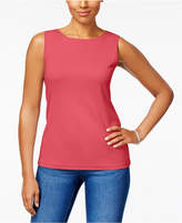 Karen Scott Cotton Sleeveless Crew-Neck Top In Regular & Petite Sizes, Created for Macy's