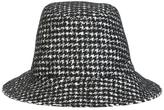 Dolce & Gabbana houndstooth pattered hat - women - Silk/Alpaca/Virgin Wool/Polyamide - 58