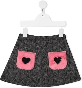 Miss Blumarine Herringbone-Pattern Mini Skirt
