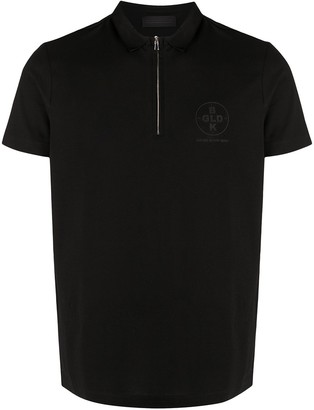 Diesel Black Gold Zipped Short-Sleeved Polo Shirt