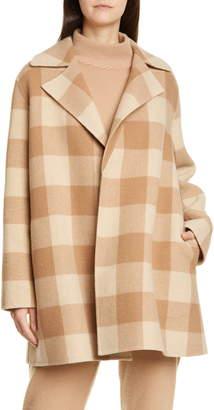 Theory Buffalo Plaid Wool Coat