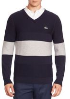 Lacoste Striped Colorblock Sweater