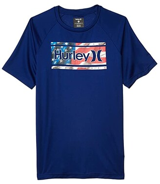 Hurley Dri-Fit One and Only Graphic T-Shirt (Big Kids) (Deep Royal) Boy's Clothing