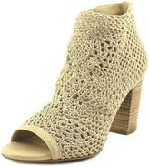 Jessica Simpson Rianne Women Open Toe Canvas Nude Platform Heel.