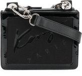 Kenzo signature shoulder bag - women - Cotton/Patent Leather/Nylon/Canvas - One Size