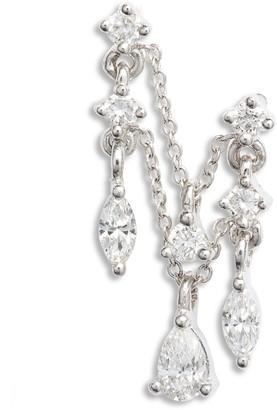 Maria Tash Multi Diamond Chain Orbital Earring