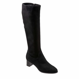 Trotters Women's Kacee Black Suede Tall Boot 7 M
