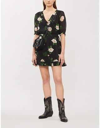 The Kooples Floral-print silk-chiffon dress