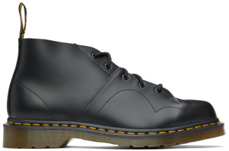 Dr. Martens Black Smooth Church Oxfords