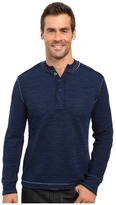 True Grit Double Weave Long Sleeve Snap Henley
