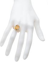 Topten Top Ten citrine diamond oval ring
