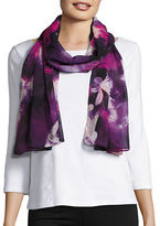 Calvin Klein Chiffon Watercolor Floral Scarf