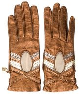 Moschino Metallic Leather Gloves