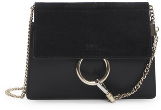 Chloé Mini Faye Leather & Suede Shoulder Bag