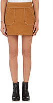 Harvey Faircloth Women's Piqué-Weave Cotton Miniskirt-BROWN, TAN