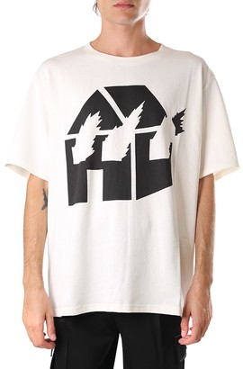 J.W.Anderson White And Black Cotton Jwa X Dw T-shirt