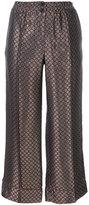 Erika Cavallini - cropped jacquard trousers - women - Acetate/Viscose - 42