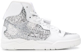 Chiara Ferragni Basket glitter high-top sneakers