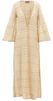 Missoni Mare - Lace-up Front Metallic Crochet-knit Kaftan - Womens - Gold