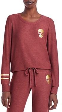 Chaser Long Sleeve Skull & Stripes Pullover Top