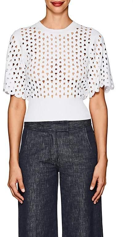Derek Lam Women's Cutout Compact Knit Crop Top
