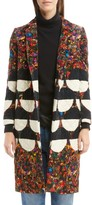 Dries Van Noten Women's Mix Print Quilted Velvet Coat